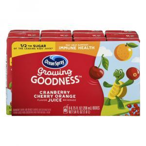 Ocean Spray Growing Goodness Cranberry Cherry Orange Juice