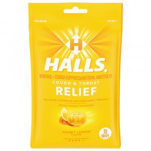 Halls Honey Lemon Cough Drops