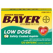 Bayer Low Dose 81 mg Aspirin Regimen