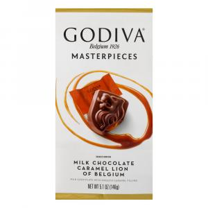 Godiva Masterpieces Milk Chocolate Caramel Lion Candy