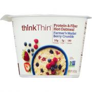 Think Thin Farmer's Market Berry Crumble Hot Oatmeal