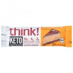Think Keto Protein Chocolate Peanut Butter Pie Bar