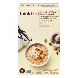 Think Thin Madagascar Vanilla, Almonds, Pecans Hot Oatmeal