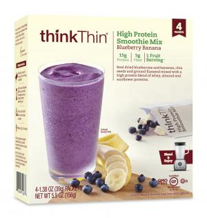 Think Thin Blueberry Banana High Protein Smoothie Mix