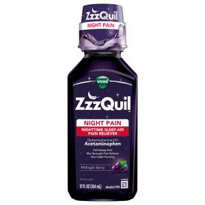 Vicks ZzzQUIL Night Pain Berry Syrup