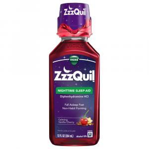 ZzzQuil Nighttime Sleeping-Aid Calming Vanilla Cherry