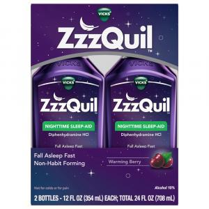 Vicks Zzzquil Berry Nighttime Sleep Aid Liquid