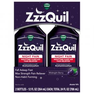 ZzzQuil Night Pain Nighttime Sleep-Aid Pain Reliever