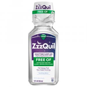 Vicks ZzzQUIL Alcohol Free Soothing Mango Berry