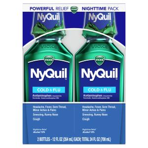 Vicks NyQuil Original Liquid Twin Pack