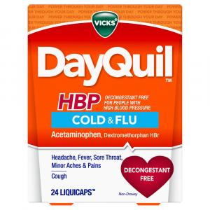 Vicks DayQuil HBP Cold & Flu Liquid Caps