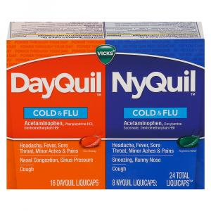 Vicks Dayquil/Nyquil Cold & Flu Liquicaps