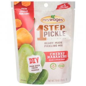 Mrs. Wage 1 Step Pickle  Pickling Brine Cherry Habanero