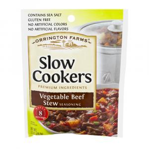 Orrington Farms Slow Cooker Vegetable Beef Stew