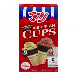 Joy Chocolate Dipped Ice Cream Cups