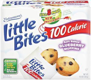 Entenmann's 100 Calorie Blueberry Muffin Squares