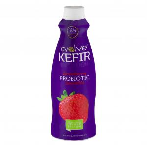 Evolve Kefir Strawberry Probiotic Smoothie