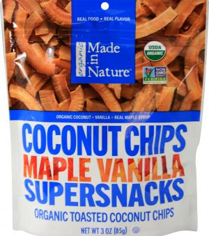 Made In Nature Organic Coconut Chips Maple Vanilla