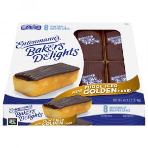 Entenmann's Minis Fudge Iced Golden Cakes
