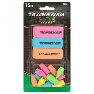 Ticonderoga Eraser Neon Multi-Pack