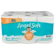 Angel Soft 12 Mega Rolls Bath Tissue