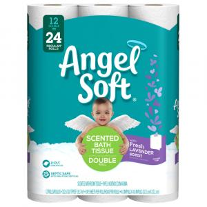 Angel Soft Lavender Scented Double Roll Bath Tissue
