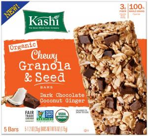 Kashi Dark Chocolate Coconut Ginger Chewy Granola & Seed Bar