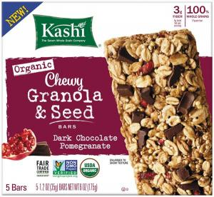Kashi Dark Chocolate Pomegranate Chewy Granola & Seed Bars