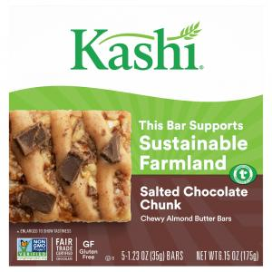 Kashi Chewy Nut Butter Bars Salted Chocolate Chunk