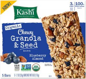 Kashi Blueberry Almond Chewy Granola & Seed Bars