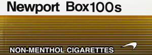 Newport Non-Menthol Gold Box 100 Cigarettes