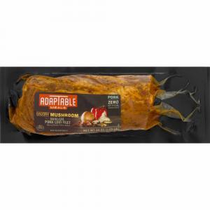 Adaptable Meals Savory Mushroom Pork Loin Filet