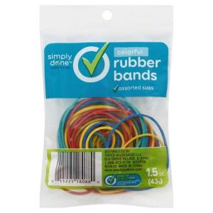 Simply Done Rubber Bands Natural