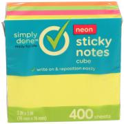 Simply Done Neon Sticky Notes