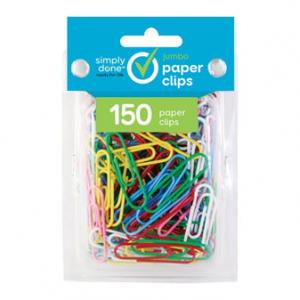 Simply Done Jumbo Paper Clips Assorted Colors