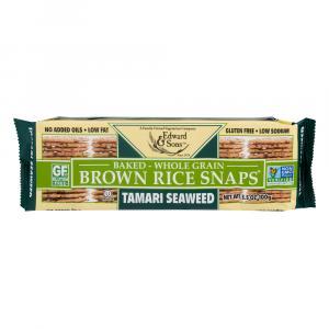Edward & Sons Fat Free Tamari Seaweed Brown Rice Snaps