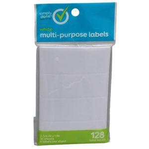 Simply Done All Purpose White Labels
