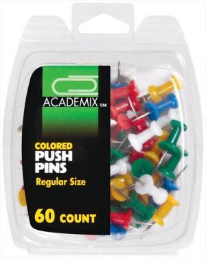 Academix Colored Push Pins