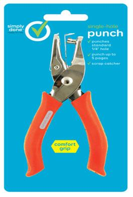 Simply Done Single-hole Punch Comfort Grip