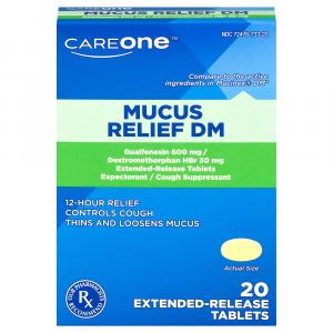 CareOne Mucus Relief DM 600mg Tablets