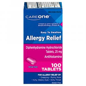 CareOne Allergy Relief Tablets 25 mg