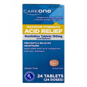 CareOne Maximum Strength Acid Relief Tablets 150 MG