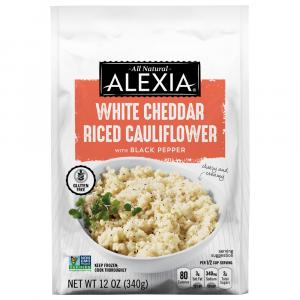 Alexia White Cheddar Riced Cauliflower with Black Pepper