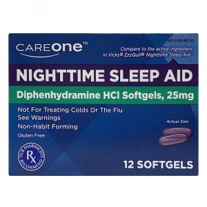 CareOne Nighttime Sleep-Aid Softgels