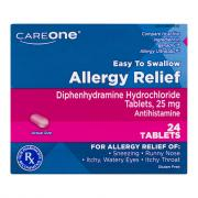 CareOne Allergy Relief Antihistamine Tablets