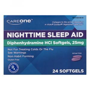 CareOne Nighttime Sleep-Aid Soft Gels