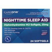 CareOne Nighttime Sleep-Aid Soft Gels