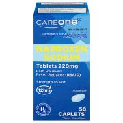 CareOne Naproxen Sodium Caplets 220mg