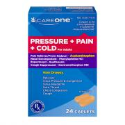 CareOne Pressure Pain & Cold Caplets