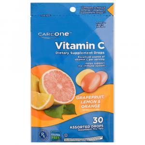CareOne Vitamin C Grape Lemon & Orange Cough Drops